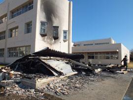 九十九里中の倉庫が全焼 | 千葉日報オンライン