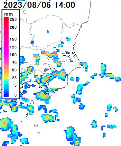 千葉県周辺雨雲レーダ
