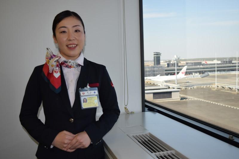 10年間、成田空港でキャリアを重ねた「JALスカイ」の石山絵梨さん