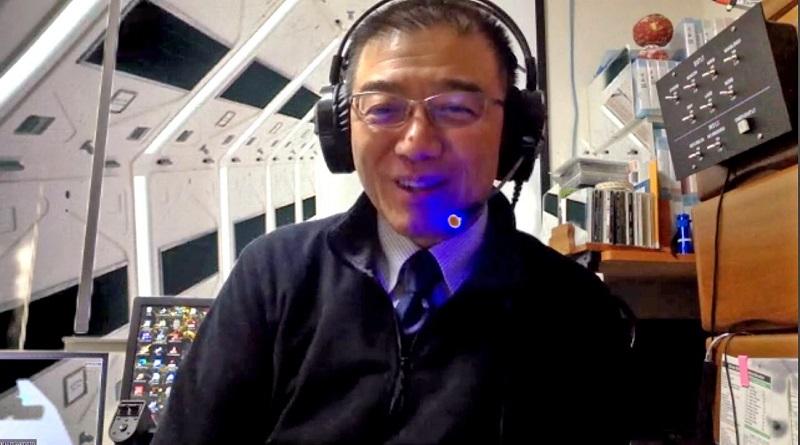 当時、放射能被害の対応にあたったNAA上席執行役員の宮本さん=2021年2月