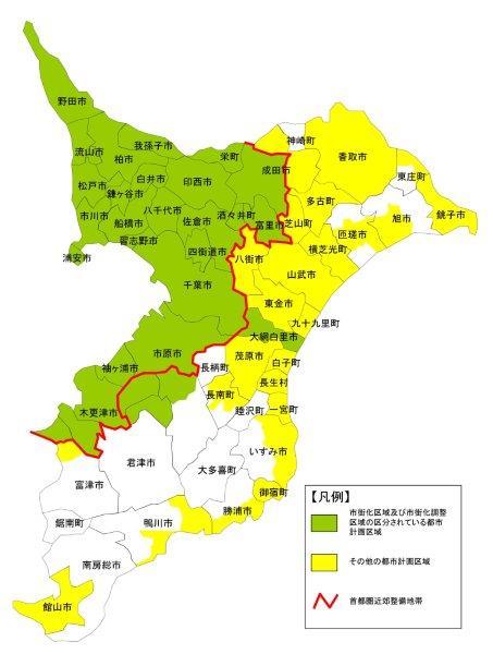 千葉県都市計画区域図