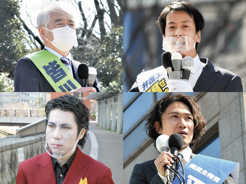 8候補、注目の第一声は 千葉県知事選   千葉日報オンライン