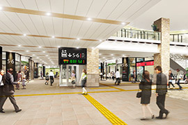 千葉駅開業は11月 3階改札内に50店舗