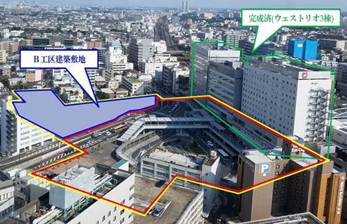 2019年07月19日(金)                                                                                   再開発ビル20年開業 病院など3棟、建築者募集 足かけ30年、整備一段落 JR千葉駅西口